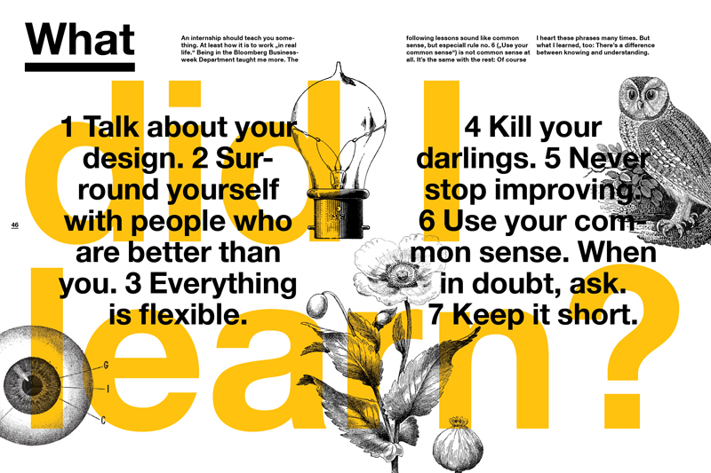Lessons Learned at Bloomberg Businessweek,  2013