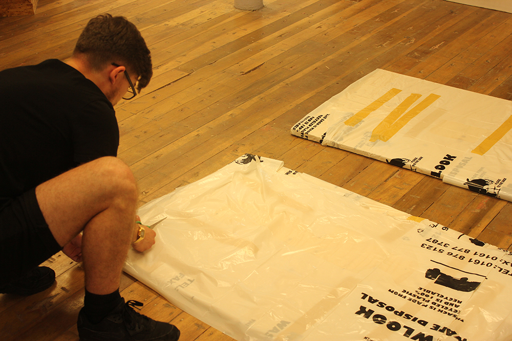 Ross begins to weatherproof the A-boards