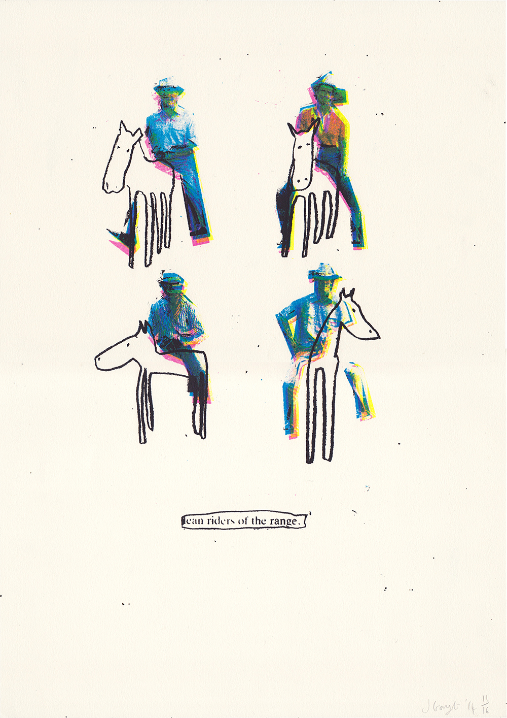 Lean Riders CMYK screen print