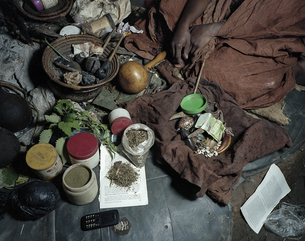 A witch doctors shrine from THE MODERNITY OF WITCHCRAFT