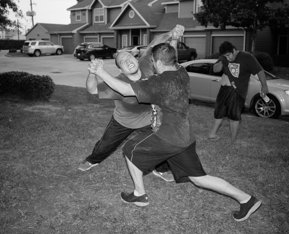 Front lawn mercy from THE NOT SO ILLEGAL WRESTLING FEDERATION