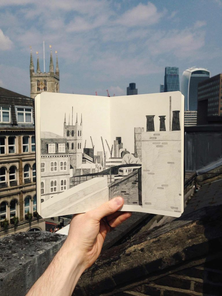 Rooftop sketchbook