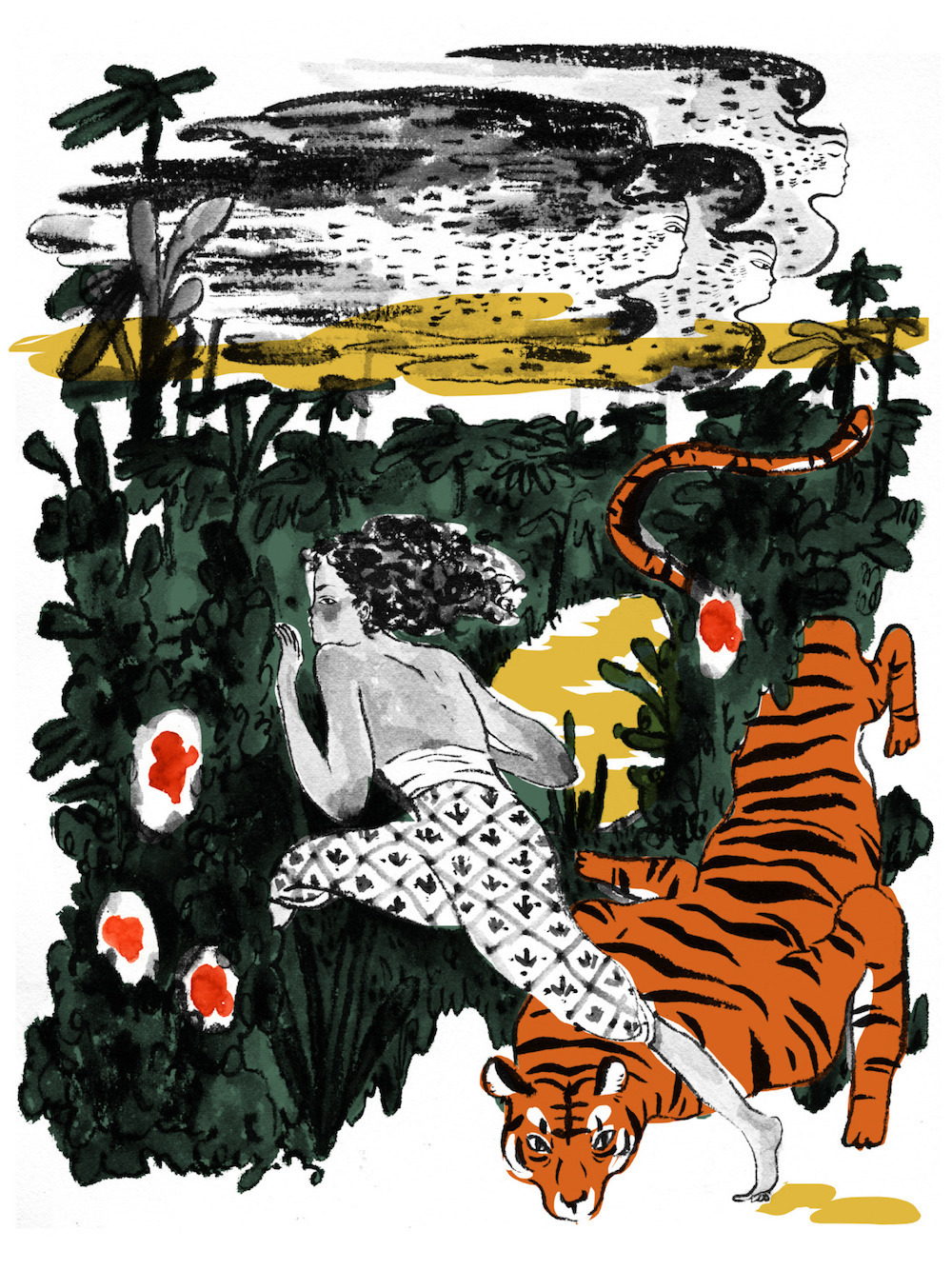 A Girl and Her Tiger